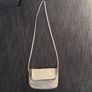 H&M light gray cross body bag
